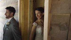 first look around corner austin wedding videographer